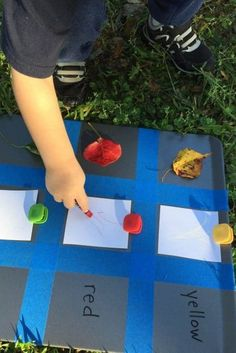 Make a beautiful Fall leaf toddler color chart to teach color recognition. Outdoor Activities For Toddlers, Gross Motor Activities, Autumn Activities, Preschool Activities, Toddler Preschool, Toddler Crafts, Toddler Learning, Early Learning, Happy Mom