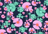 Amy Butler Glow Fabric: Wind Flower, Berry (per 1/4 metre)