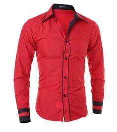 Men Shirt Fashion Brand Men'S Cuff Striped Long-Sleeved Shirt Male Camisa Masculina Casual Slim Chemise Homme XXL
