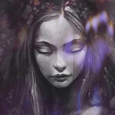 found this beautiful fae on tumblr and tossed my own purple faerie dust on her so she could sparkle ☺️ #Padgram