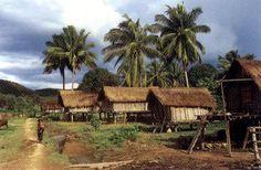 This is a Montagnard village.  There was one near Pleiku.  Pleiku village, Vietnam