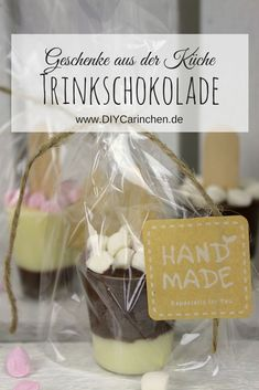 Simply make DIY drinking chocolate on a stick DIYCarinchen . - Easy to make DIY drinking chocolate on a. Chocolate Recipes, Chocolate Diy, Love Gifts, Handicraft, Drinking, Christmas Gifts, Place Card Holders, Display, How To Make