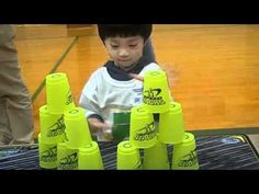 """Therapy Idea of the Week – """"Sport Stacking"""" (Also Known as 'Cup Stacking' and 'Speed Stacking') - Pinned by - Please Visit for all our pediatric therapy pins Motor Skills Activities, Gross Motor Skills, Fun Activities For Kids, Educational Activities, Physical Activities, Physical Development, Physical Education, Motor Planning, School Ot"""