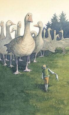 El maravilloso viaje de Nils Holgersson (Ilustración de Thomas Docherty)