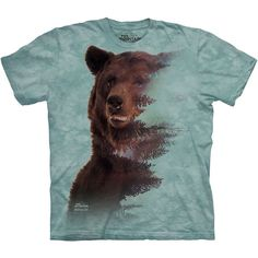 BROWN BEAR FOREST T-Shirt S-3XL The Mountain Wildlife American Grizzly Tee NEW! #TheMountain #GraphicTee