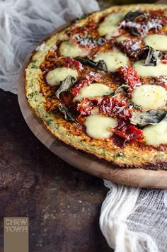 Cauliflower Pizza Base | Chew Town Food Blog