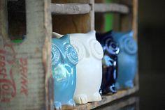 owl - handmade ceramic owl figurine $27ea