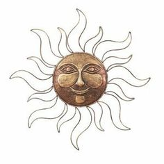 "Sun Face Metal Wall Art Decor Plaque,Indoor, Outdoor by Yuma Enterprises. $46.00. Measure Approximately: 30""outside diameter!. A bright, benevolent sun blesses your garden or home with warmth and good *cheer it will bright your. This timeless, simple, modern art piece will certainly adapt to every *interior design or outdoor st. This wall sculpture, which can be hung indoors or outdoors!. WELCOME TO MARCEL HOME DECOR and GIFT"
