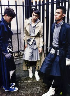 mens non-no / trench+layers / quintessential urban nomads