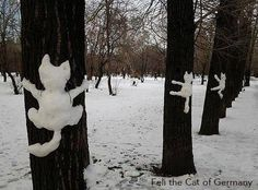 OH my. this is the BEST! :D Cats, Cats, Cats! If we get snow. I'm going to do. I Love Cats, Crazy Cats, Cute Cats, Funny Kitties, Adorable Kittens, Kitty Cats, Funny Dogs, Land Art, Memes Gratis