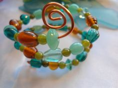 SALE with coupon save 25 offCzech glass beaded wire by Nezihe1, $19.00