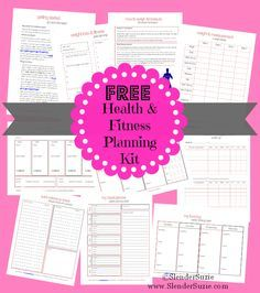 Enjoy your FREE PRINTABLE Slender Suzie Health & Fitness Planning Kit!! Track weight, fitness, measurement, plan meals, grocery lists, and LOTS more! www.SlenderSuzie.com – More at http://www.GlobeTransformer.org