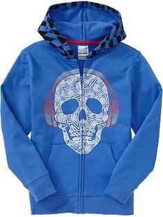 Boys Skull-Graphic Hoodies- back to school shopping, got this for Kyan!