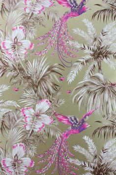 Bird of Paradise Wallpaper & Fabric from Osborne & Little