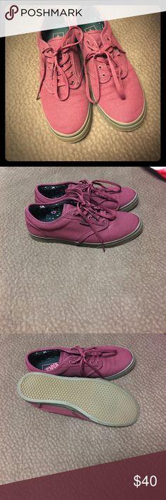 Maroon Vans Never been worn, in excellent condition! Vans Shoes Sneakers