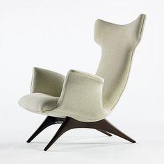 Vladimir Kagan, Wing Armchair for Kagan-Dreyfuss Inc., 1959.