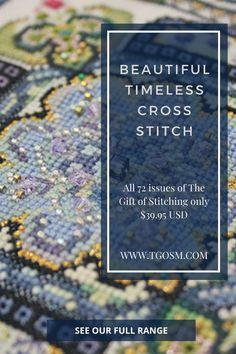 Cross Stitch Art, Cross Stitch Designs, Cross Stitching, Cross Stitch Embroidery, Cross Stitch Patterns, Hand Embroidery Designs, Embroidery Patterns, Knitted Hats Kids, Cross Stitch Magazines