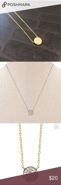 """Sterling silver necklace Gold sterling silver necklace , 18.4"""" chain Jewelry Necklaces"""