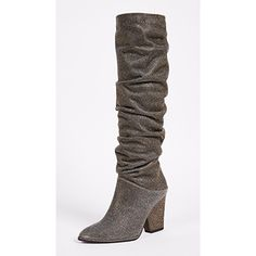 Stuart Weitzman Smashing Knee High Boots ($543) ❤ liked on Polyvore featuring shoes, boots, knee-high boots, stuart weitzman, stuart weitzman knee high boots, knee high heel boots and chunky heel knee high boots