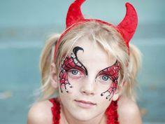 halloween devil makeup for little girls | my devil again 30 Hair Raising Devil Pictures