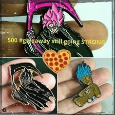 #Repost @shiftysproductions  Touch my pizza!  Then go to the original 500 follower #giveaway and follow the rules over there to win a shiny new set!! #pingamestrong #enamelpins #lapelpins #pingameproper #dragonballz #dbzpin #goku #blackgoku #rosereaper #supportsmallbusiness #texas #local    (Posted by https://bbllowwnn.com/) Tap the photo for purchase info. Follow @bbllowwnn on Instagram for great pins patches and more!