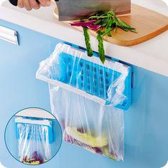 Portable Hanging Trash Rubbish Garbage Bags Racks Kitchen Storage Bag Holder