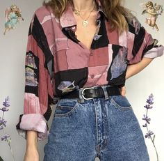 Indie Outfits, Retro Outfits, Cute Casual Outfits, Vintage Outfits, Summer Outfits, 80s Fashion, Look Fashion, Korean Fashion, Fashion Outfits