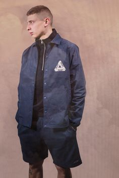 Palace Tech Coach Jacket Navy. Now available via http://shop.PalaceSkateboards.com/products/tech-coach-jacket-navy for $153 USD. (You can view an additional photo of this product on my Tumblr page (www.Chris-Muench.tumblr.com) | Model: Blondey Mccoy)