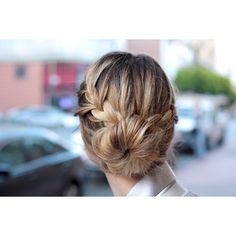 I think this is such a cute classy bun, and the braid adds a beach-y style to it.