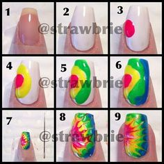 tied dye nails