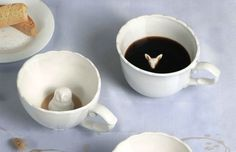 Hidden animal teacups. Drink to find out what is hiding below...I had one of these when I was little