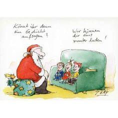 Weihnachtspostkarten mit lustigen Sprüchen - Könnt ihr denn ein Gedicht aufsagen? Wir können dir eins runter laden!: Amazon.de: Bürobedarf & Schreibwaren