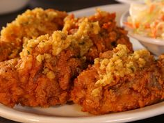 Garlic Fried Chicken (Basque Style) recipe from Diners, Drive-Ins and Dives via Food Network