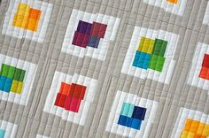 Every is coming up rainbows from the book modern quilts from the blogging universe.