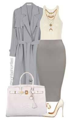"""Cool Tones"" by highfashionfiles ❤ liked on Polyvore featuring Atea Oceanie, Rick Owens, Charlotte Russe, Oscar de la Renta, Hermès, Christian Louboutin, Cartier, women's clothing, women's fashion and women"