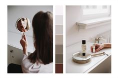 POKOJÍK / Prepairing to her office work: mirror by Oáza Collection and perfume Vetiverus by spanish brand Oliver & Co. School Office, Spanish, Editorial, Perfume, Mirror, Collection, Mirrors, Spanish Language, Spain