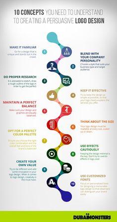 Infographic: 10 Golden Rules To Creating A Persuasive Logo Design - DesignTAXI.com