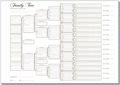 Free Family Tree Charts   Write up your ancestors onto this compact family tree chart for easy ...
