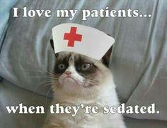 Nursing humor with grumpy cat Icu Nursing, Nursing Memes, Travel Nursing, Funny Nursing, Medical Humor, Nurse Humor, Paramedic Humor, Firefighter Humor, Pharmacy Humor