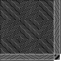shadow | parallel threading & treadling | 8-shaft, 8-treadle