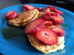 Oatmeal and Cottage Cheese make these pancakes heart healthy and chock full of protein.