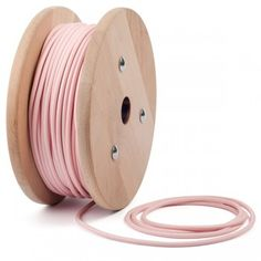 Pastel baby pink round textile cable