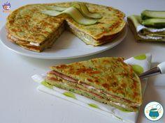 Pancake salati di zucchine a tortino - ricetta furba -