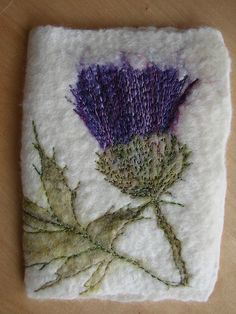 Thistle felted needle book | Flickr