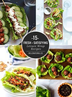 15 Fresh + Satisfying Lettuce Wrap Recipes   HelloNatural.co