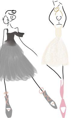 More Ballet fashion sketching