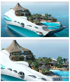 Yacht Island Design paradise and the floating island /by @42concepts | inspiración