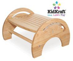 KidKraft Adjustable Stool for Nursing - Natural 15121