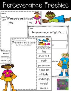 Looking to work on Growth Mindset and perseverance with your students? Here are 3 pages that can help extend your work.You might also be interested in these perseverance building packs! They are perfect for whole group, small group, independent work, test prep and homework:Finding ProofTeaching Readers to Self-Monitor