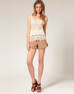 I know this is crochet, not knit, but one day you should make me a tank top out of a delicate knit pattern.